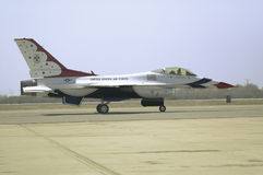 Falcons de combat de l'Armée de l'Air d'USA F-16C, Images stock