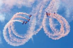 Falcons hoppa fallskärm skärmlaget Royaltyfria Bilder