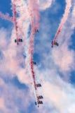 Falcons hoppa fallskärm skärmlaget Arkivbild