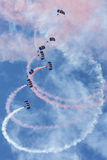 Falcons Parachute Display Team Royalty Free Stock Photo