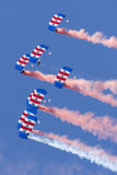 Falcons Parachute Display Team Royalty Free Stock Image
