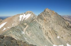 Falcor Peak And Mount Rixford Stock Photography