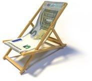 Falcowanie pokładu krzesło z pięć euro obraz stock