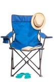 Falcowanie przedmioty dla wakacje w naturze i krzesło obraz stock
