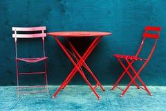 Falcowanie stół i falcowań krzesła w w centrum Edmonton Alberta fotografia royalty free