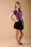 Falda adolescente de la manera Fotografía de archivo