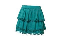 Falda azul Foto de archivo libre de regalías