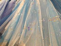 Falda azul del tafetán Imagen de archivo libre de regalías