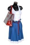 Falda, chaleco y bolso imagenes de archivo