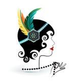 Falda con le piume in fascia royalty illustrazione gratis