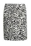 Falda de la moda de la cebra Fotografía de archivo libre de regalías