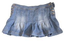 Falda de los pantalones vaqueros Foto de archivo