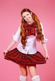 Falda de tela escocesa Imagenes de archivo