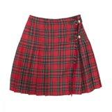 Falda de tela escocesa corta Fotos de archivo libres de regalías