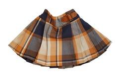 Falda de tela escocesa corta Imagenes de archivo