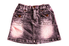 Falda del dril de algodón de las mujeres Fotos de archivo libres de regalías