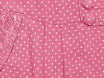 Falda del lunar del rosa en colores pastel Imagen de archivo