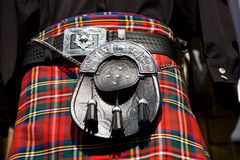 Falda escocesa escocesa Fotografía de archivo libre de regalías