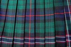 Falda escocesa escocesa Imagen de archivo