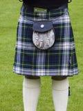 Falda escocesa escocesa Foto de archivo