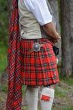 Falda escocesa escocesa Fotos de archivo