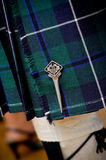 Falda escocesa escocesa tradicional Foto de archivo