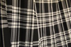 Falda escocesa plisada del tartán fotografía de archivo