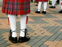 Falda escocesa que desgasta del montañés escocés Foto de archivo libre de regalías