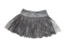 Falda gris para la muchacha Fotografía de archivo