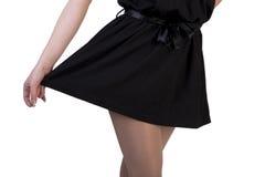 Falda negra Imágenes de archivo libres de regalías