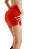 Falda roja #2 Imagen de archivo libre de regalías