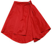 Falda roja Fotos de archivo