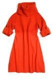 Falda roja aislada en blanco Imágenes de archivo libres de regalías