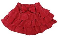 Falda roja de los niños imagen de archivo