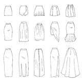 faldas ilustración del vector