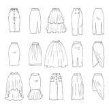 Faldas de Midi stock de ilustración