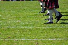 Faldas escocesas escocesas Foto de archivo