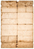 Falded paper sheet Used stained paper texture stock image