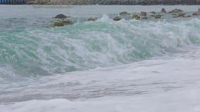 Fale Czarny morze 009 zbiory wideo