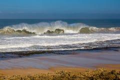 Fale kipiel burzowy Atlantyk blisko Safi obraz royalty free