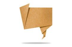 Fale o Tag o ofício de papel recicl que para faz a vara da nota Fotografia de Stock