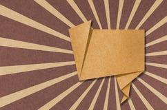 Fale o Tag o ofício de papel recicl que para faz a vara da nota. Imagens de Stock