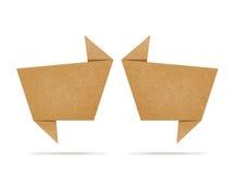 Fale o Tag o ofício de papel recicl que para faz a vara da nota Fotografia de Stock Royalty Free