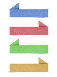 Fale o Tag o ofício de papel recicl que para faz a vara da nota Foto de Stock Royalty Free