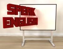 Fale o inglês ilustração do vetor