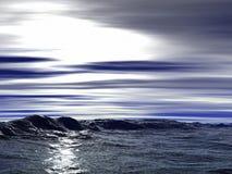 fale oceanu ilustracja wektor