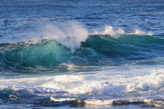 fale oceanu się fala pierwszoplanowe zdjęcie stock