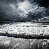 fale oceanu się fala pierwszoplanowe Obrazy Stock