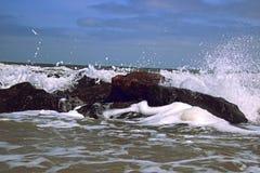 fale oceanu się fala pierwszoplanowe Zdjęcie Royalty Free
