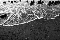 fale oceanu się fala pierwszoplanowe Fotografia Stock